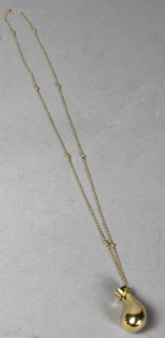 Tiffany Elsa Peretti 18k Gold Bottle Necklace