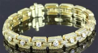 Judith Ripka 18k Gold and Diamond Bracelet
