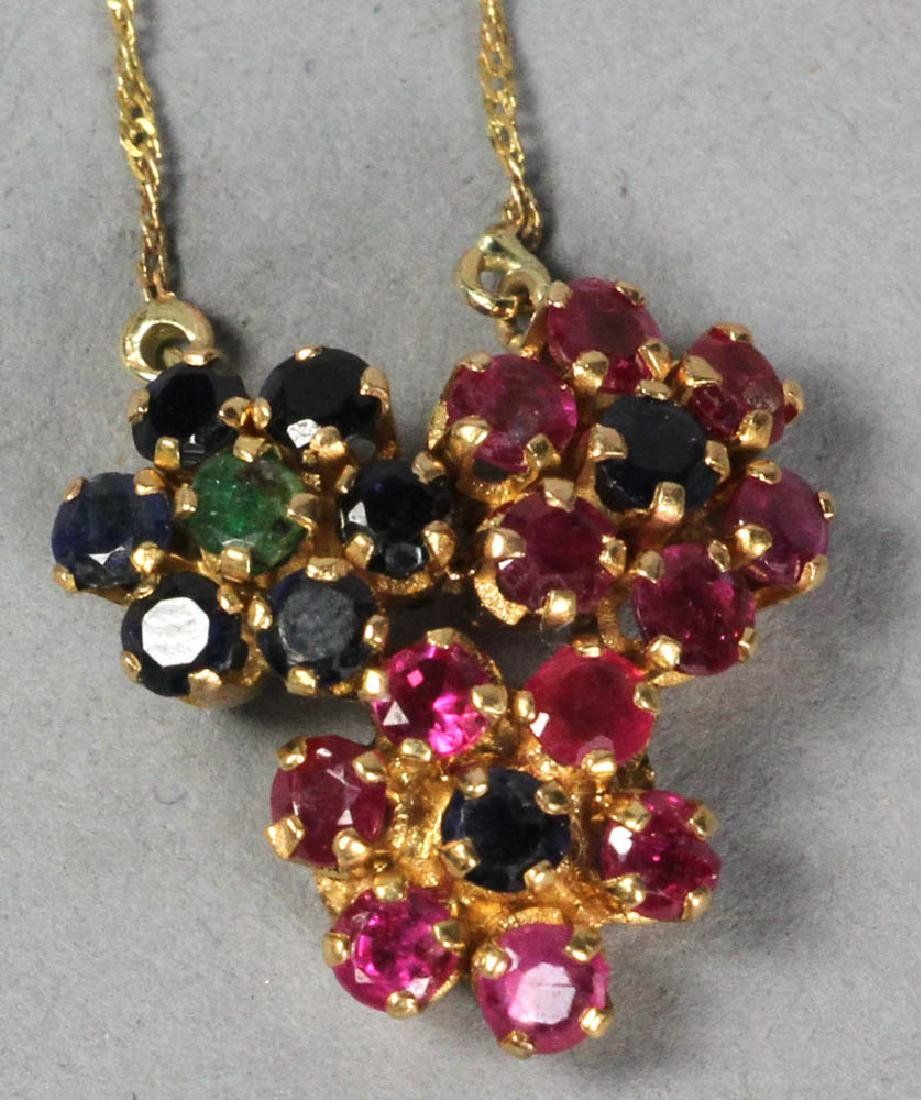 14k Ladies Gemstone Ring and Necklace - 3