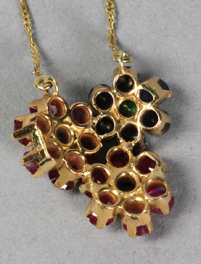 14k Ladies Gemstone Ring and Necklace - 4