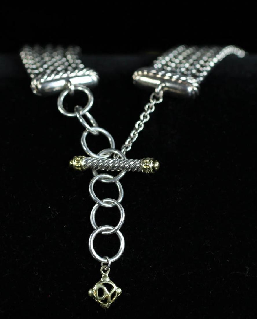 David Yurman Sterling 18k Necklace, Earrings - 2