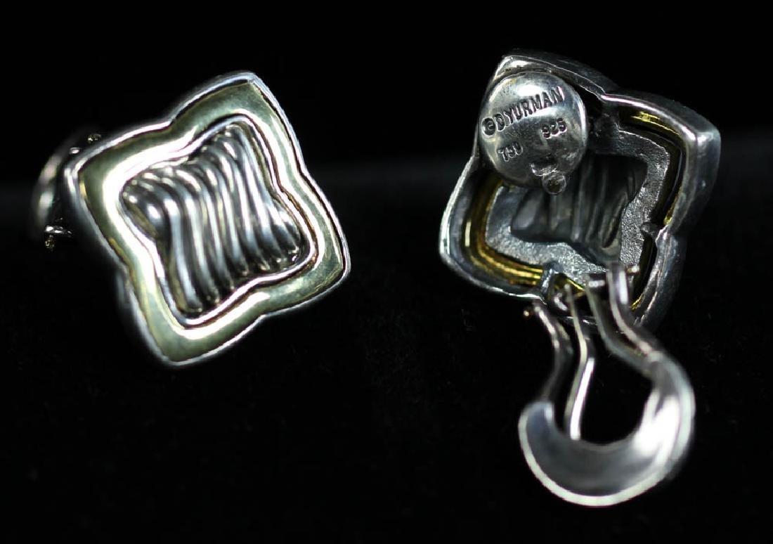 David Yurman Sterling 18k Necklace, Earrings - 4