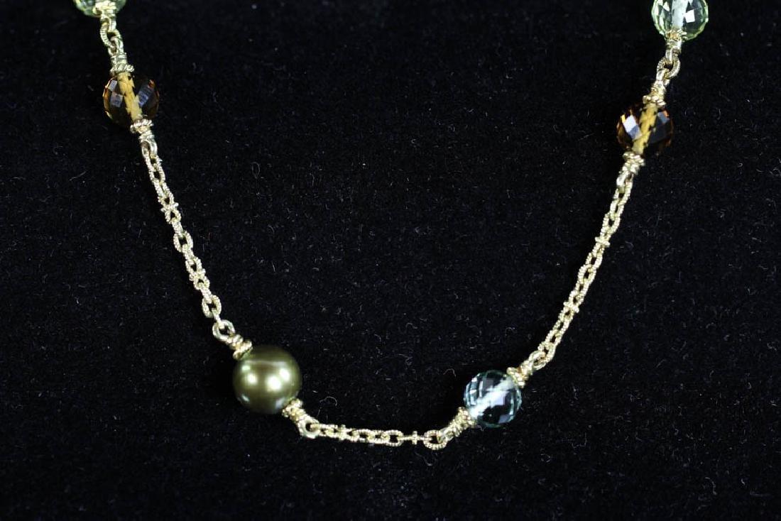 Judith Ripka 18k Pearl Diamond Necklace - 3