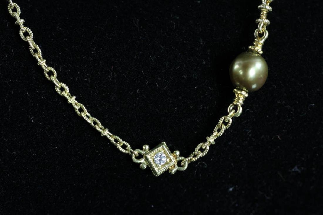 Judith Ripka 18k Pearl Diamond Necklace - 4