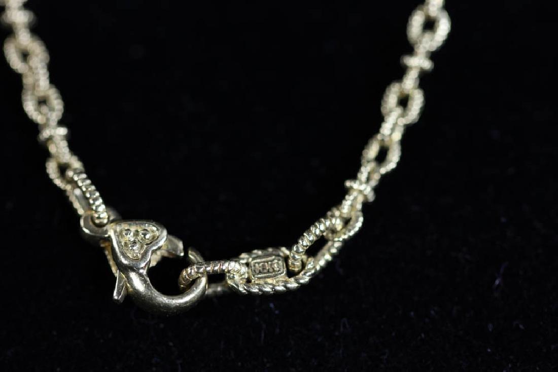 Judith Ripka 18k Pearl Diamond Necklace - 5