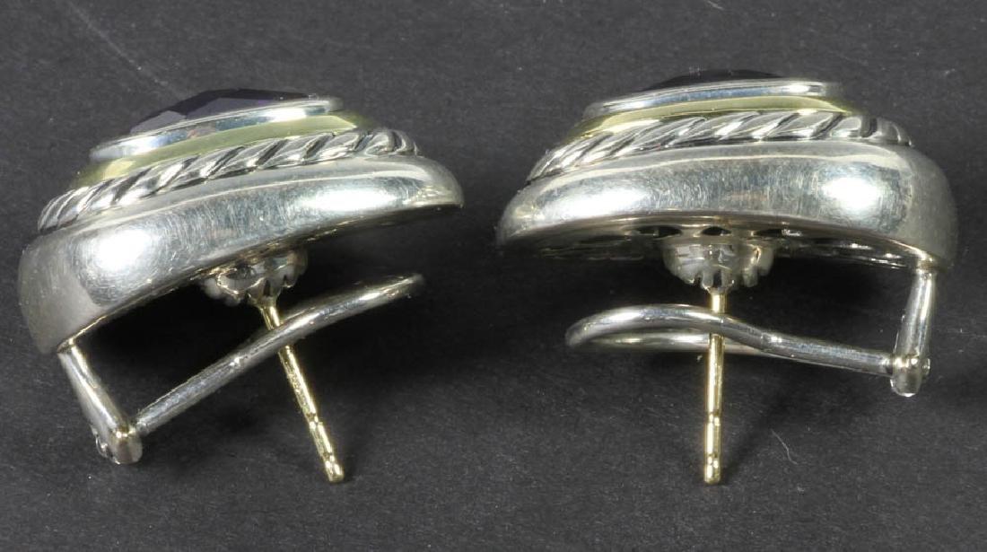 David Yurman Sterling 14k Amethyst Earrings - 2