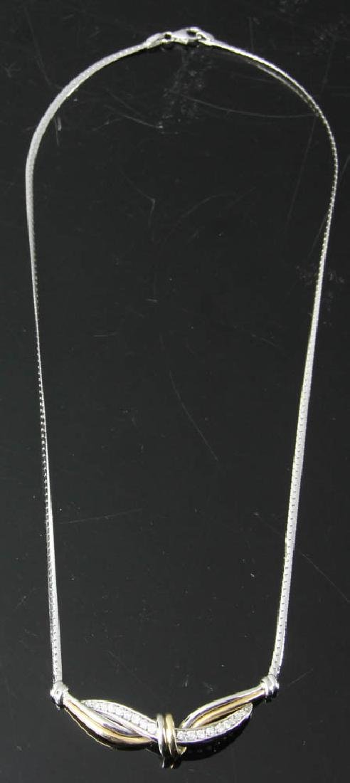 Diamond 14k White and Yellow Gold Necklace