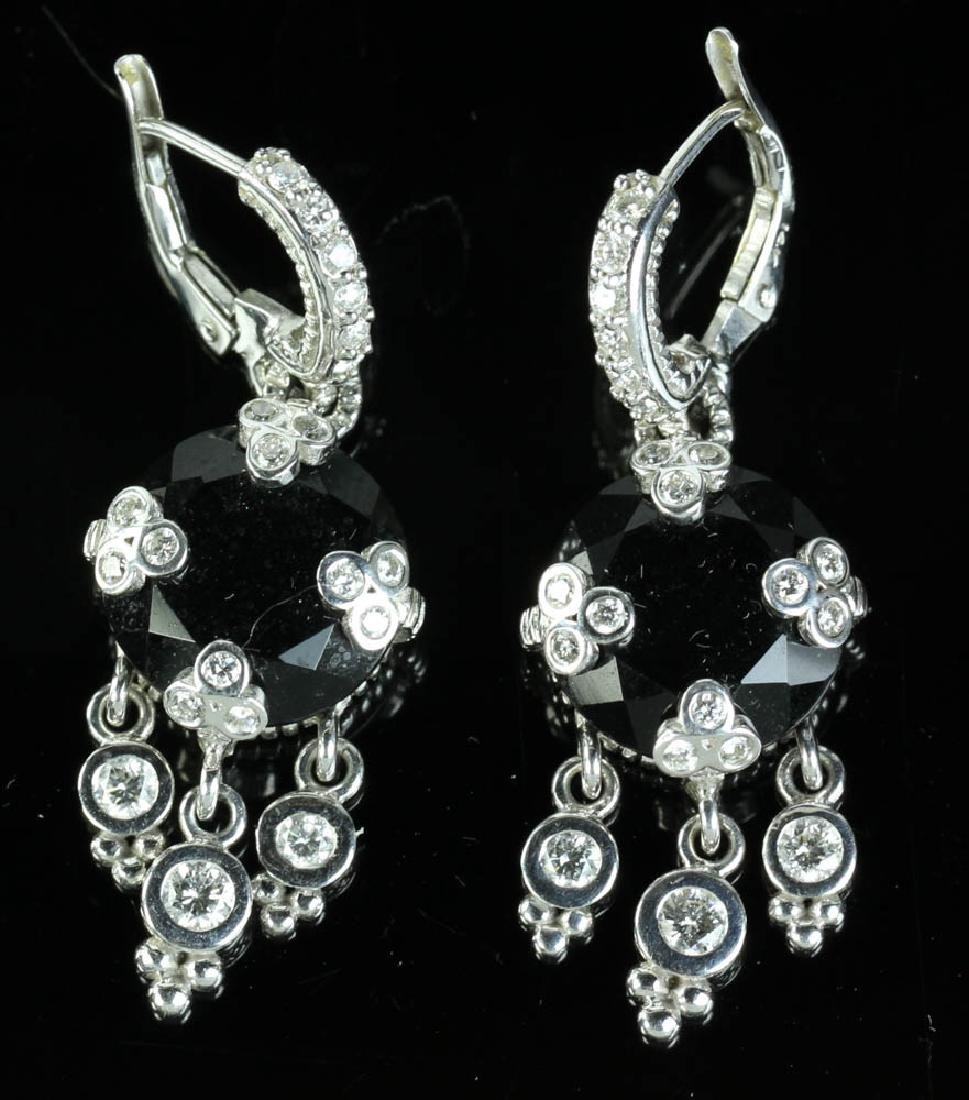 Judith Ripka 14k Onyx Diamond Earrings - 3