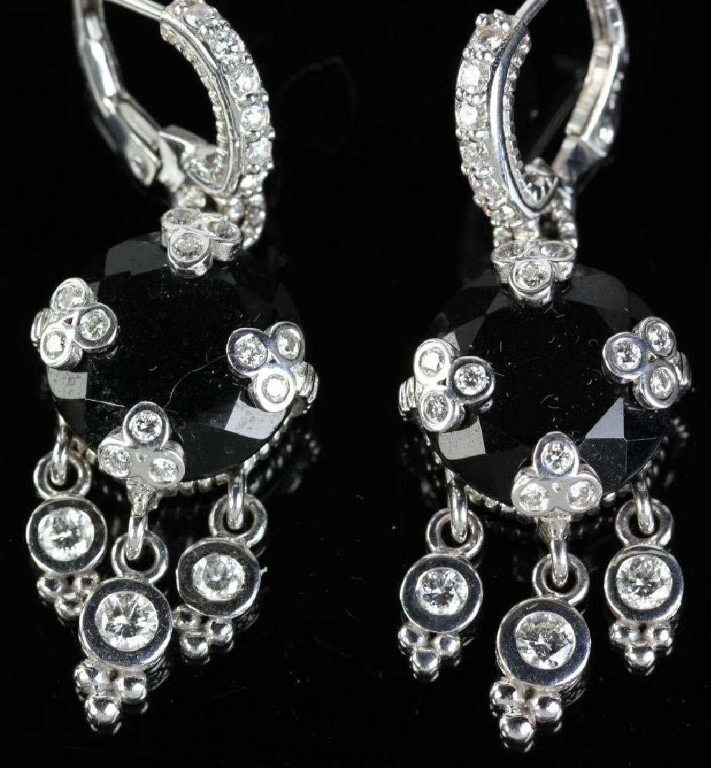 Judith Ripka 14k Onyx Diamond Earrings - 4