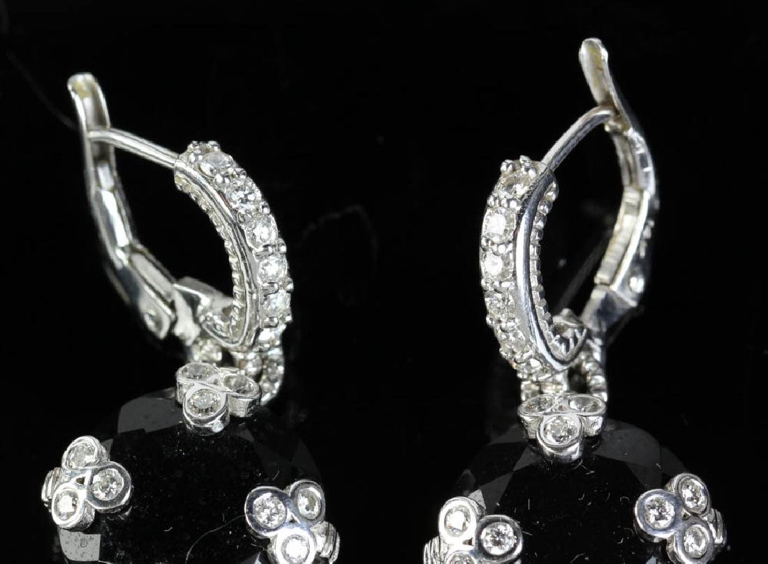 Judith Ripka 14k Onyx Diamond Earrings - 5