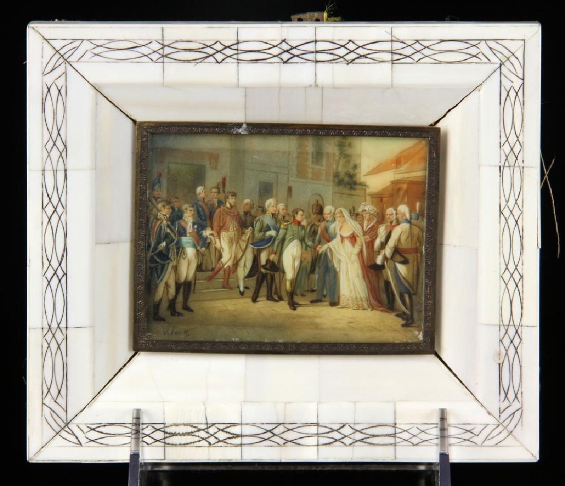 Miniature Painting of Napoleon Bonaparte in Procession