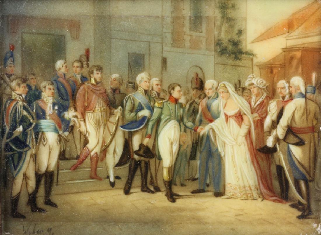 Miniature Painting of Napoleon Bonaparte in Procession - 2