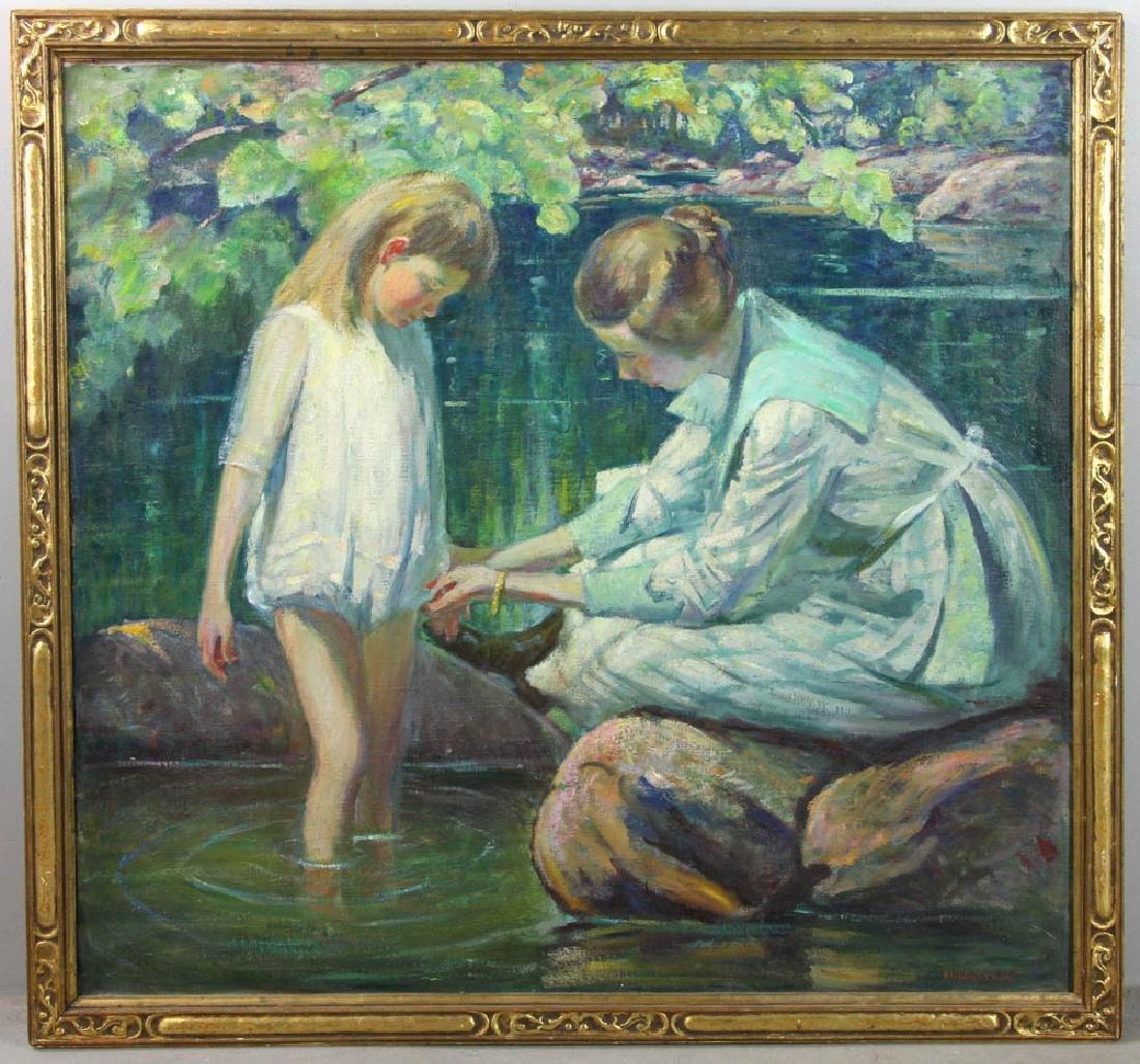 Howard Logan Hildebrandt Signed Oil on Canvas