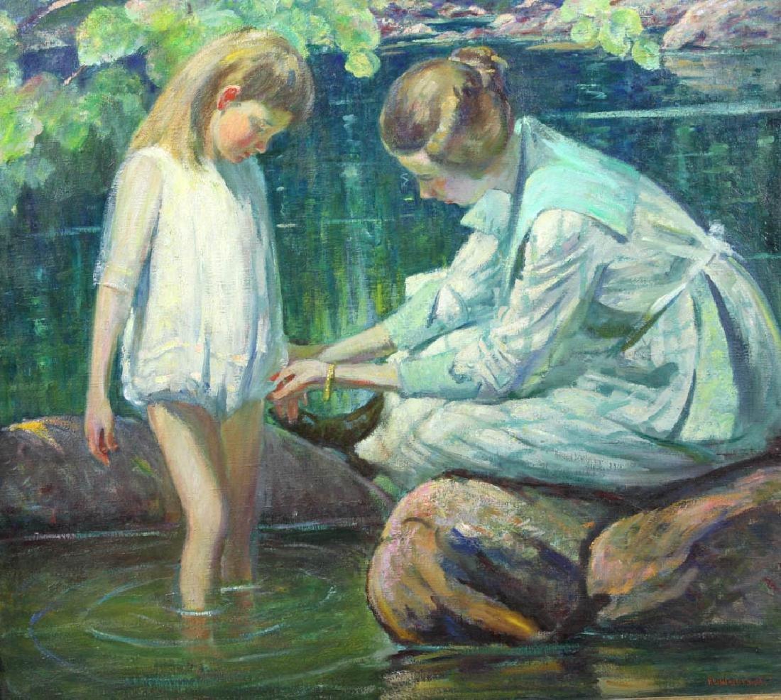 Howard Logan Hildebrandt Signed Oil on Canvas - 2