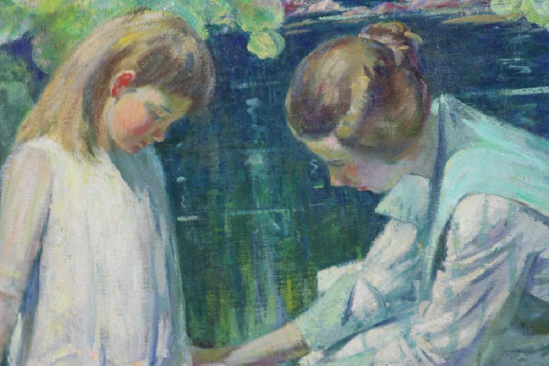 Howard Logan Hildebrandt Signed Oil on Canvas - 3