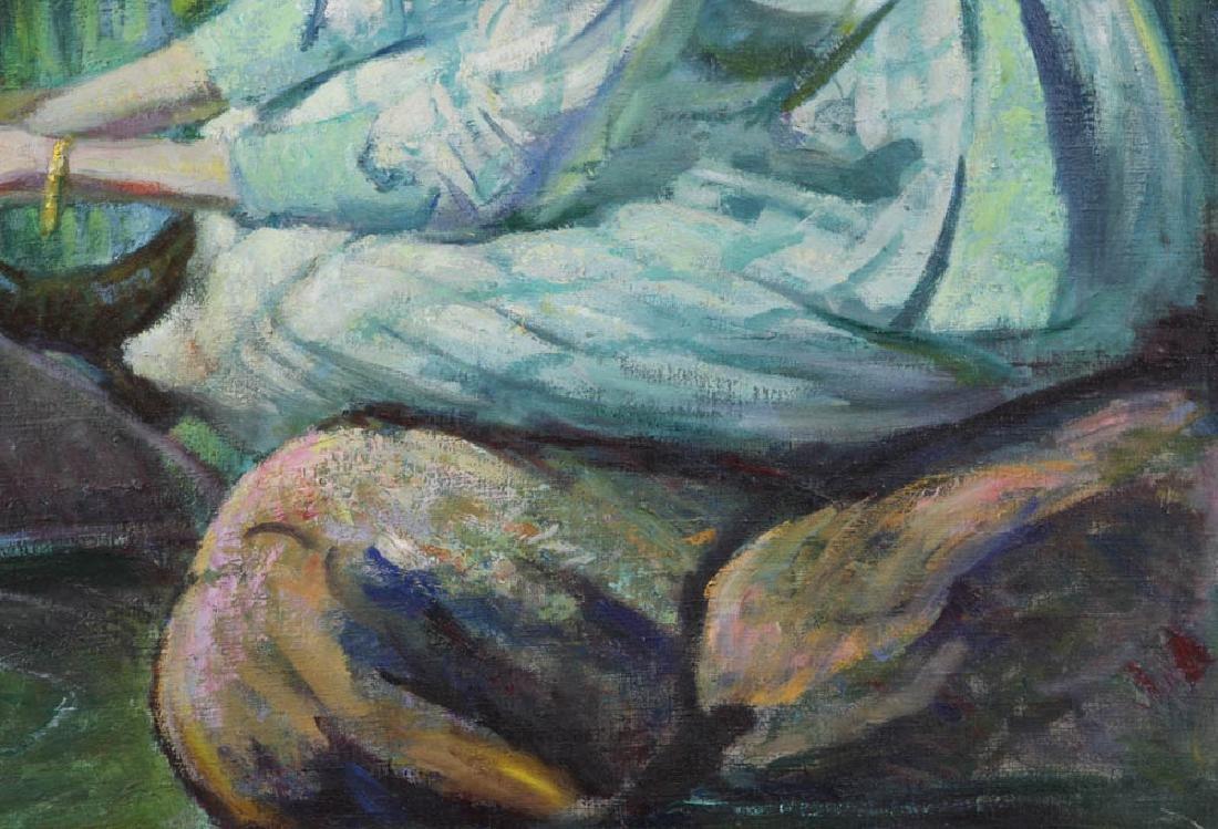 Howard Logan Hildebrandt Signed Oil on Canvas - 4