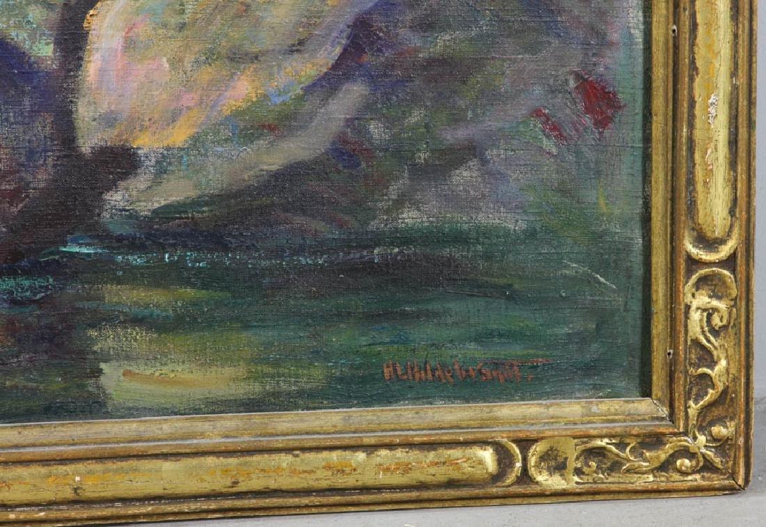 Howard Logan Hildebrandt Signed Oil on Canvas - 5