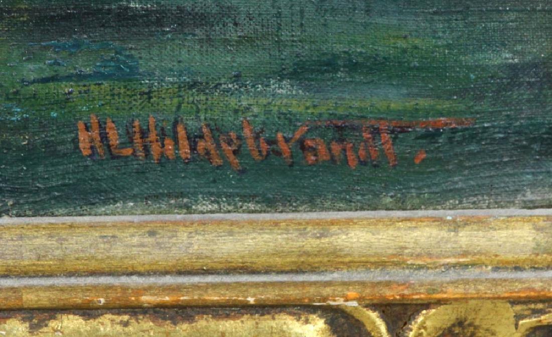 Howard Logan Hildebrandt Signed Oil on Canvas - 6