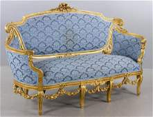 19th C Italian Giltwood Sofa