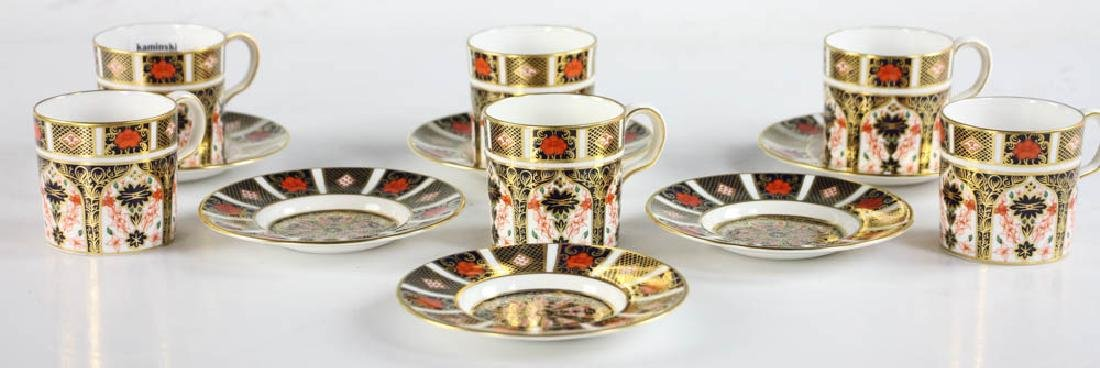 Royal Crown Derby Demi Tasse Cups and Saucers