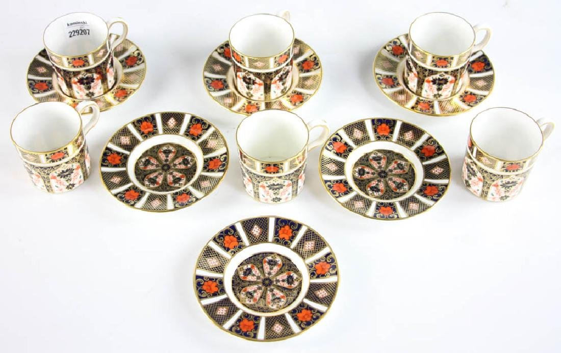 Royal Crown Derby Demi Tasse Cups and Saucers - 2