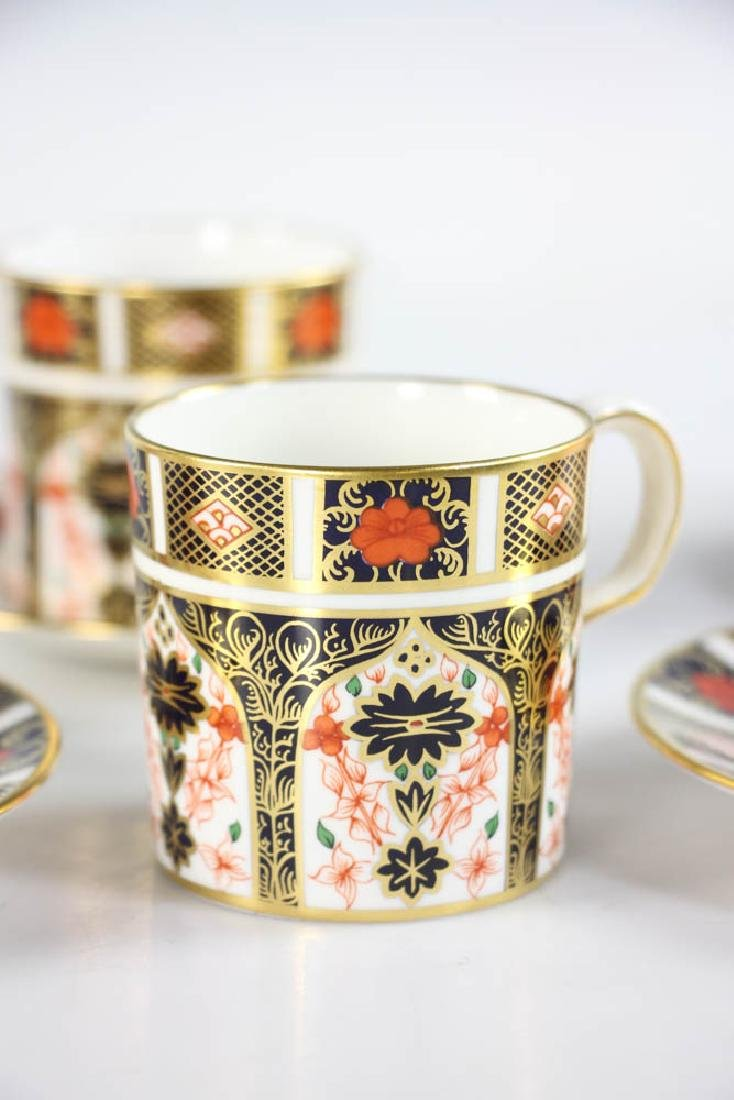 Royal Crown Derby Demi Tasse Cups and Saucers - 4