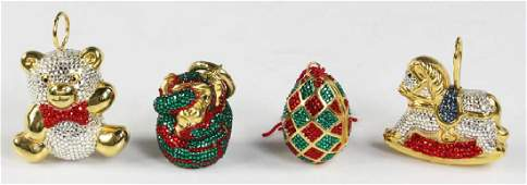 Judith Leiber Jeweled Christmas Ornaments