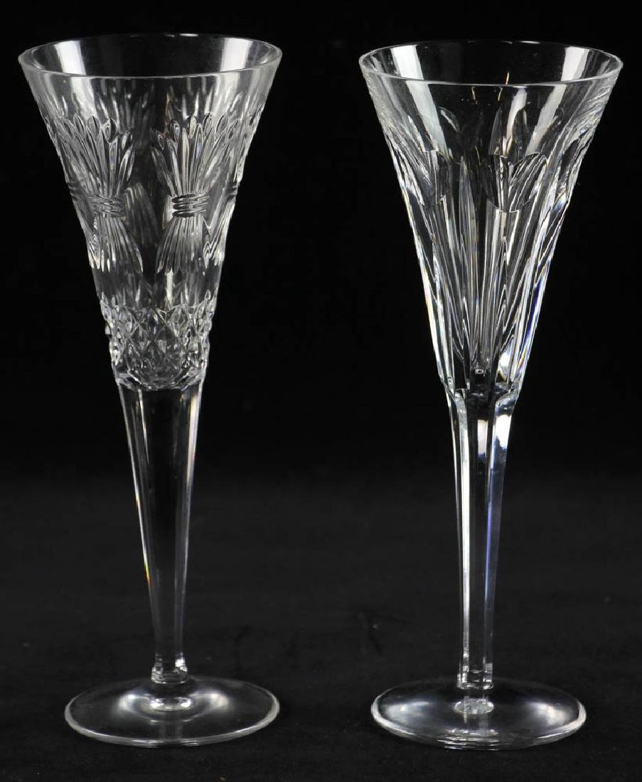 Waterford Crystal Champagne Flutes - 3