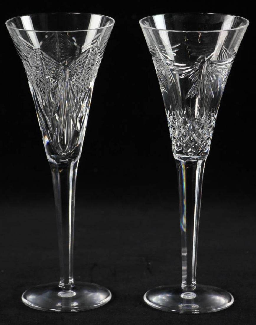 Waterford Crystal Champagne Flutes - 4