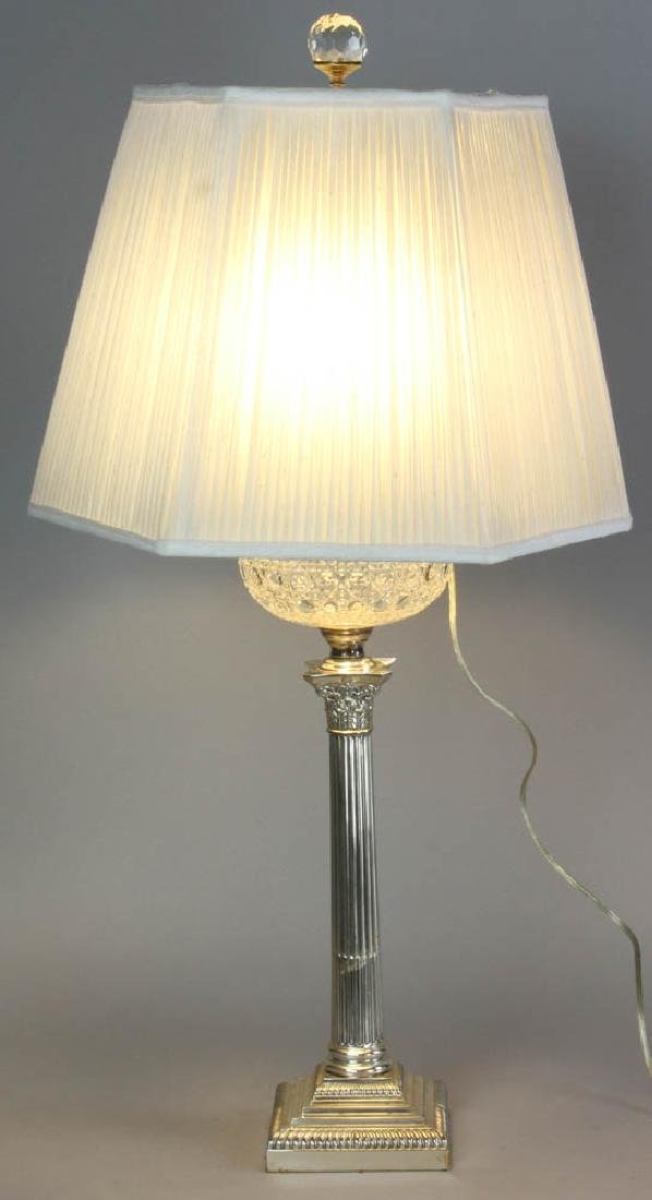 Adam Style Glass Font Table Lamp
