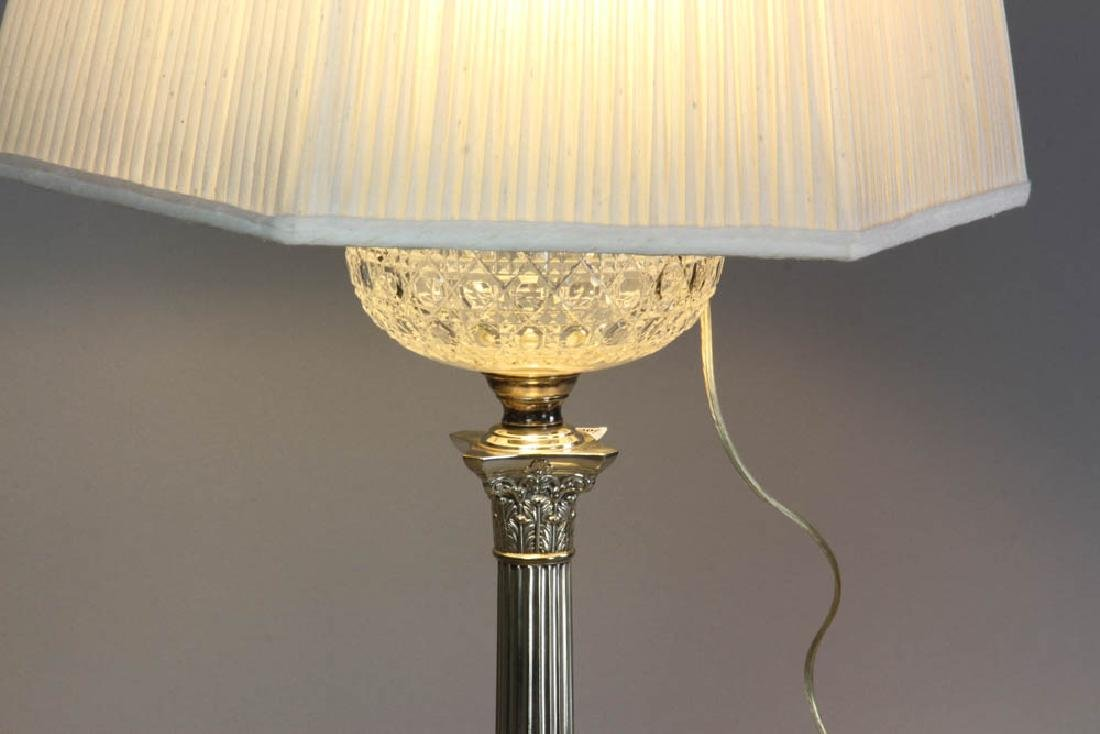 Adam Style Glass Font Table Lamp - 4