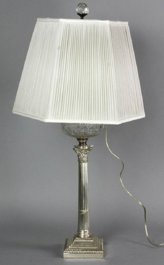 Adam Style Glass Font Table Lamp - 6