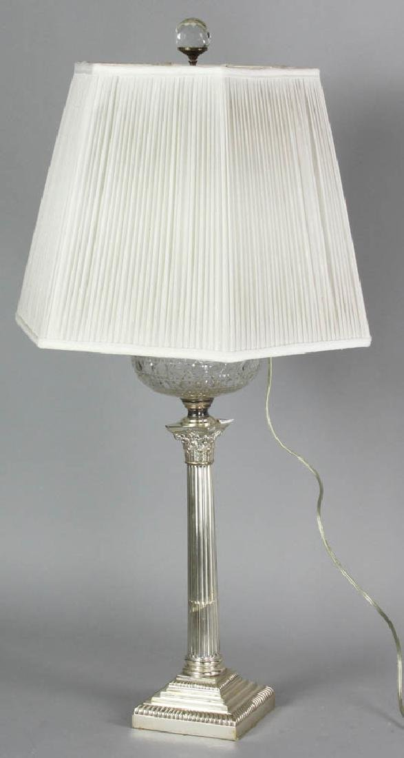 Adam Style Glass Font Table Lamp - 7