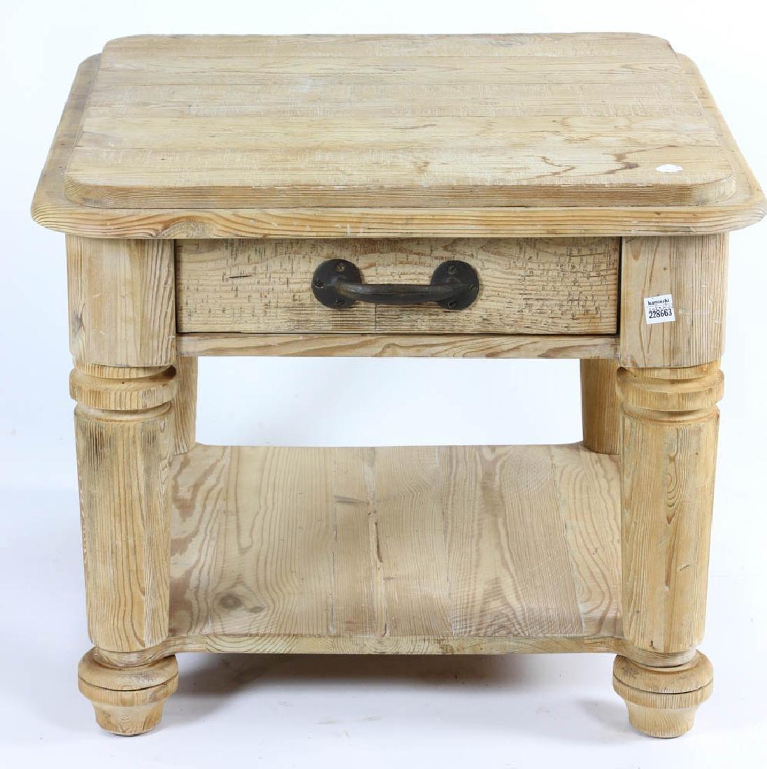 Single Drawer Pine Table