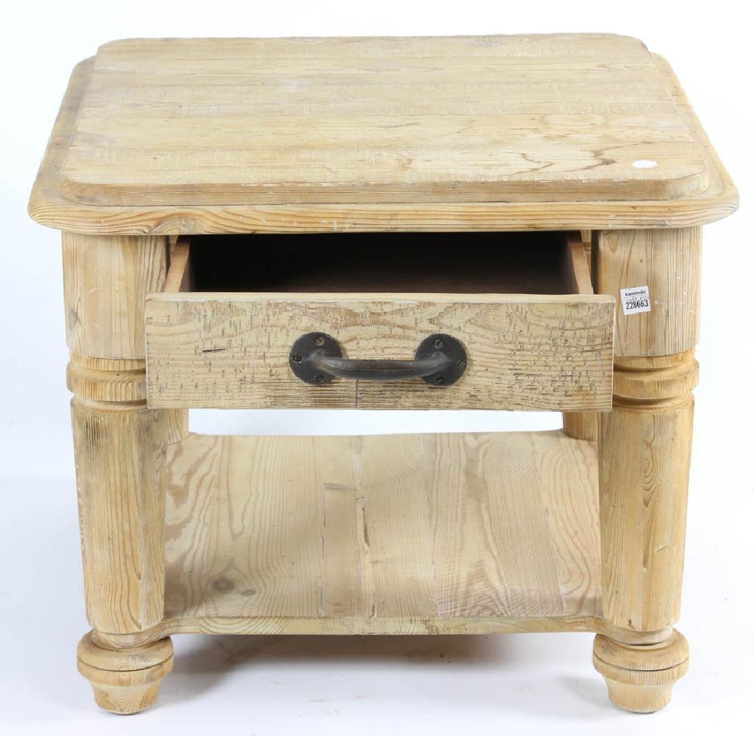 Single Drawer Pine Table - 2