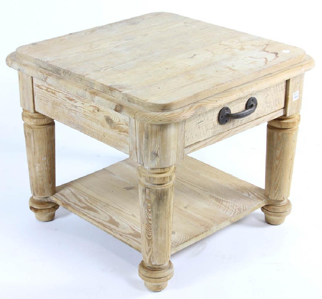 Single Drawer Pine Table - 3