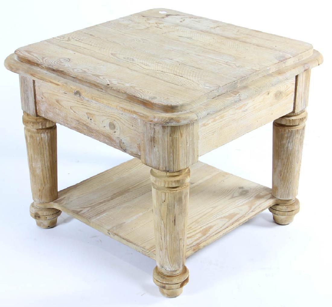Single Drawer Pine Table - 4