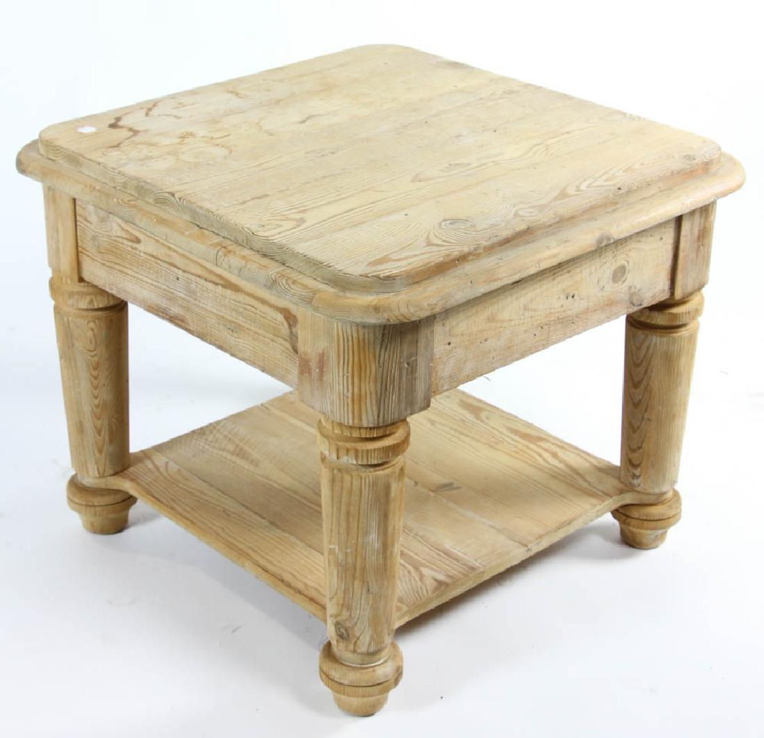 Single Drawer Pine Table - 5