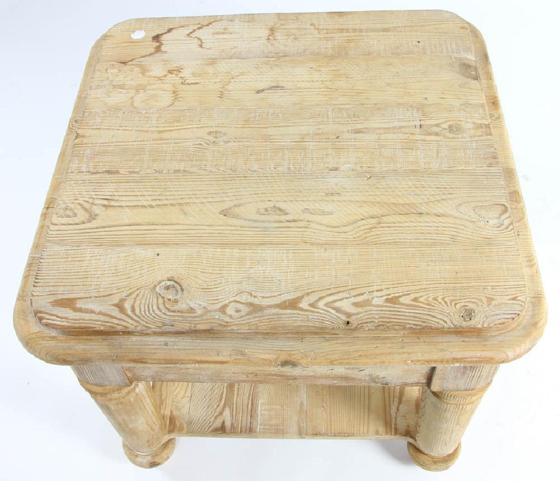 Single Drawer Pine Table - 6