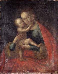 333: LATE 18TH CENTURY ITALIAN SCHOOL MADONNA & CHILD