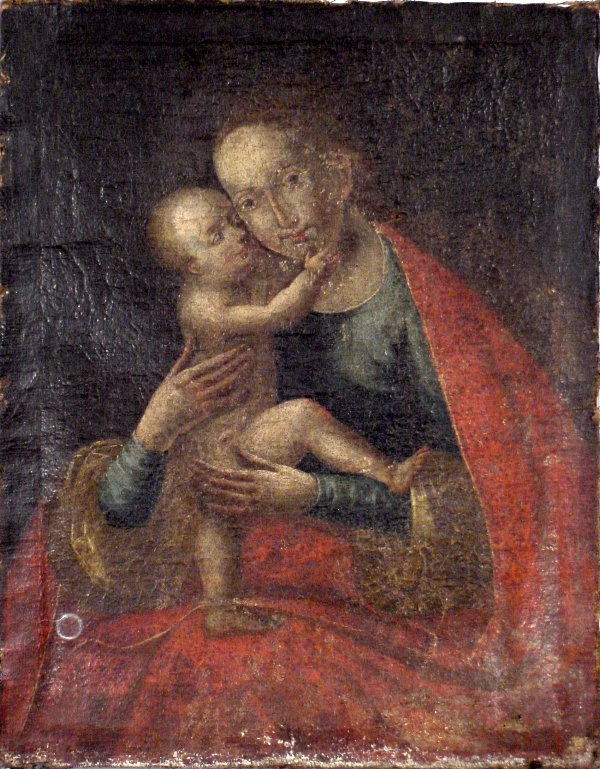 333: LATE 18TH CENTURY ITALIAN SCHOOL MADONNA & CHILD