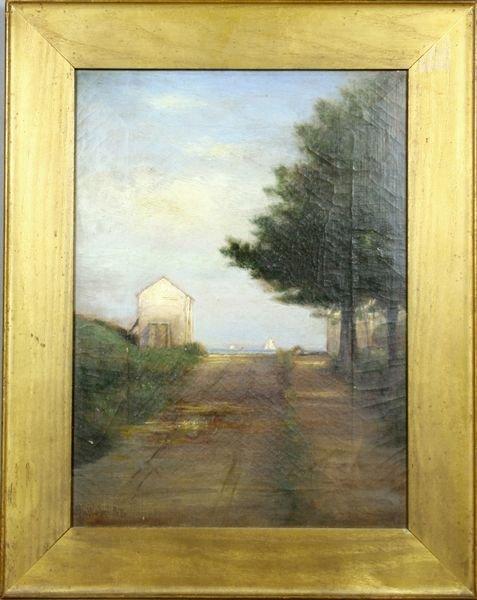 14: Late 19th Century, Harbor Road, o/c