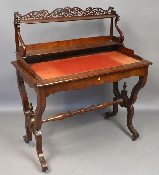 21: 19th C. Victorian Mahogany Lady's Writing Desk