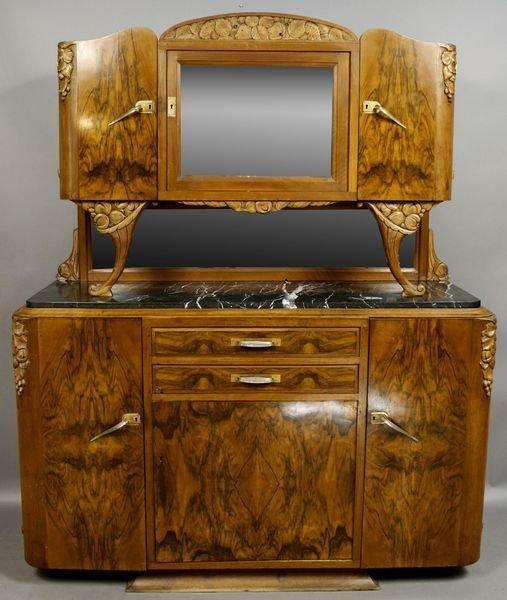 24: Art Deco Era European Multi-wood Sideboard