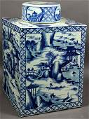 132 20th C Cantonstyle Chinese Porcelain Tea Caddy
