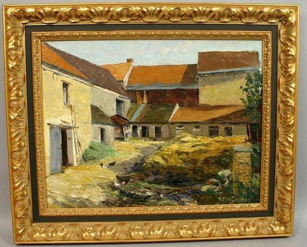 390: Sgnd Gehaby Oil On Canvas, Farm House, 1939