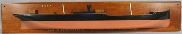 "1002: 19th Century Half Model of Freighter ""EETA"""
