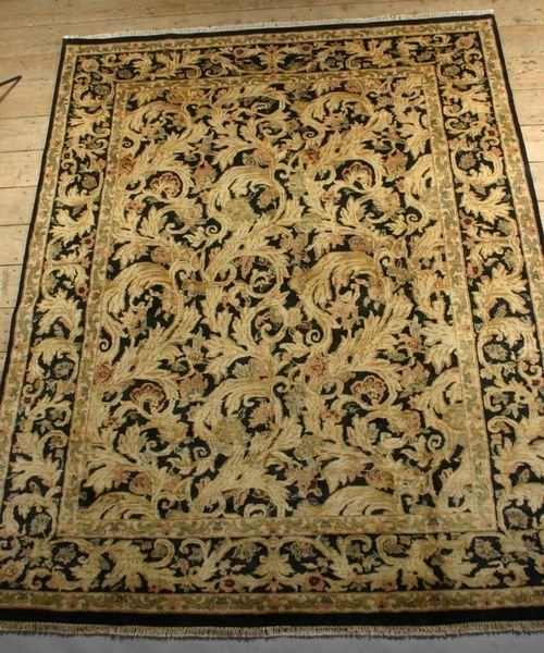 1004A: Indo Savonary Carpet, 9' X 11' 2""