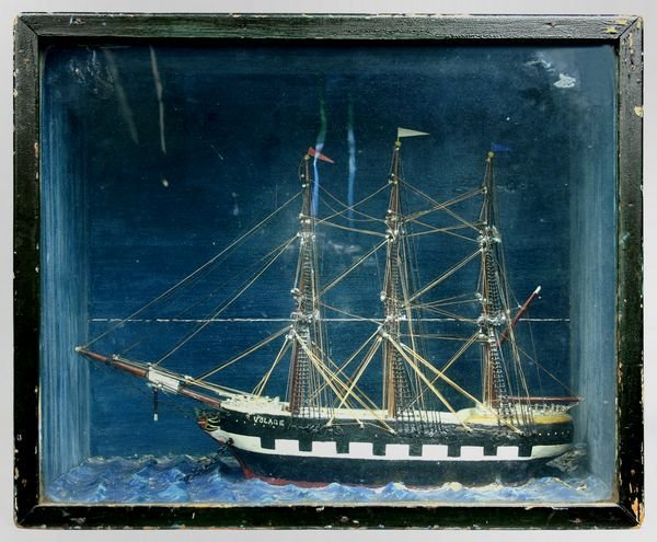 "1017: Cased Diorama of the Merchant Ship ""Volage"""