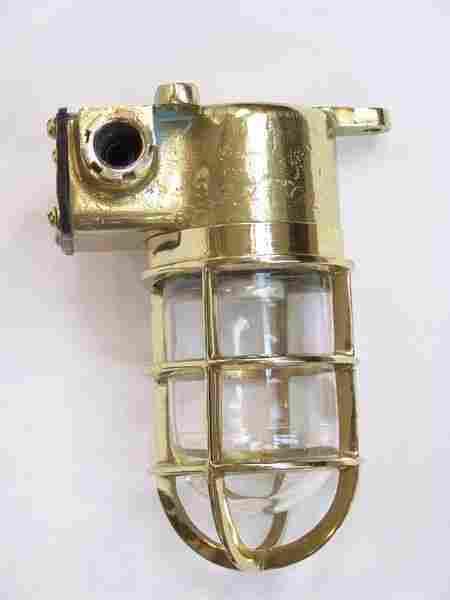 C1960 Solid Brass Ship's Companionway Lamp